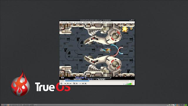 TrueOSには、動画再生ソフトのVLCがプリインストールされています。