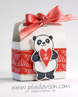 Stampin' Up! Party Pandas Tag Topper Treat Box + Video Tutorial ~ www.juliedavison.com