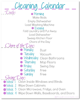 Frugal Mom And Wife Free Printable Cleaning Calendar