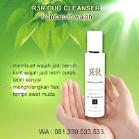 r3r duo cleanser membersihkan kulit wajah