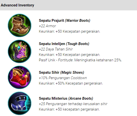 Item (Movement) Kelincahan Mobile Legends : Bang bang