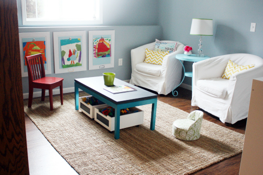 IHeart Organizing: Playroom Progress - Sweet Seating Part 1