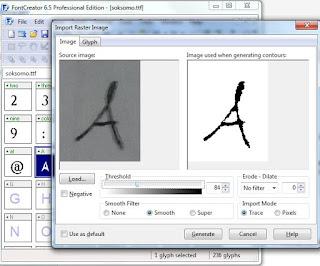hasil scanner tulisan tangan menjadi huruf digital