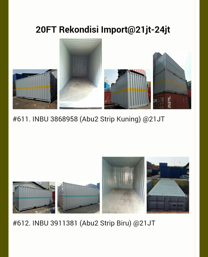 harga container office 20 feet - Harga Container, Jual ...