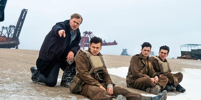 Christopher Nolan dirigiendo a Harry Styles, Aneurin Barnard y FionnWhitehead