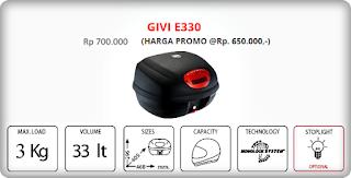 Box GIVI E330=Rp 700.000,-