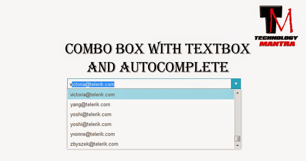 How to create a combo box with textbox and autocomplete