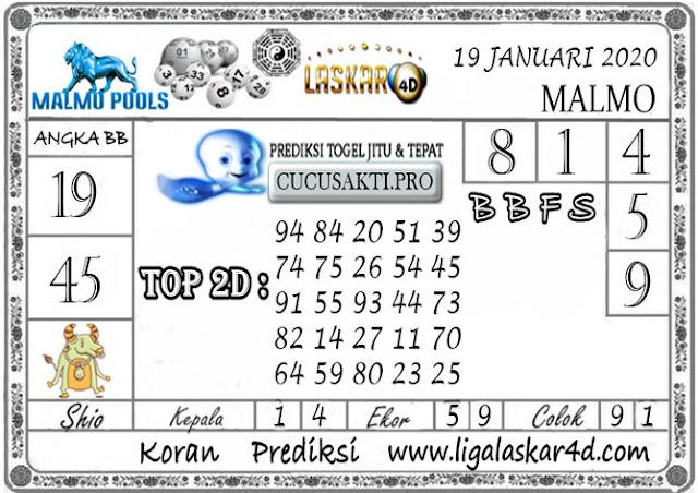 Prediksi Togel MALMO LASKAR4D 19 JANUARI 2020