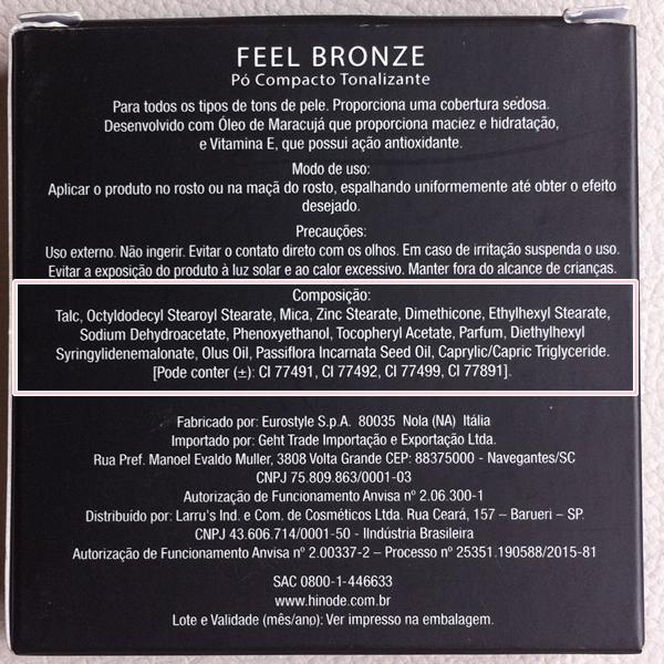 Feel Bronze Pó Compacto Tonalizante - BellaOggi Hinode