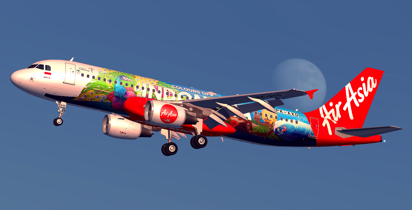 Airbus A320-216 / Indonesia AirAsia / PK-AXD / Colours of Indonesia