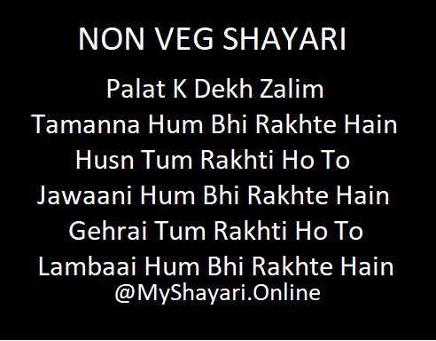 Hindi Non Veg Shayari for Friends