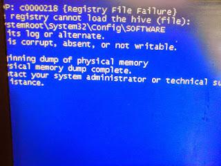"""Thông báo lỗi khi bạn cài đặt Windows XP: """"STOP: c0000218"""