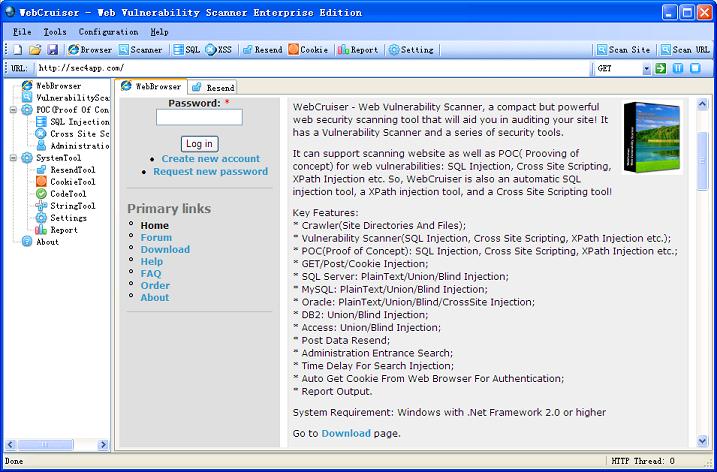 WebCruiser-Web Vulnerability Scanner - The World of IT