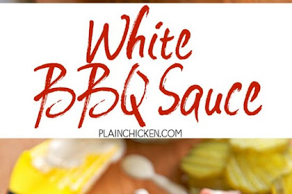 WHITE BBQ SAUCE {ALABAMA WHITE SAUCE}
