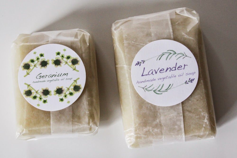 geranium and lavender soap