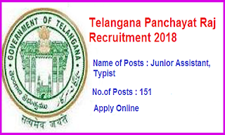 TSPSC Panchayat Raj Recruitment 2018