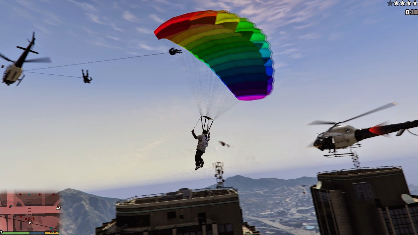 Grand Theft Auto V - Mod Awesomeness - Just Cause 2 Grappling Hook