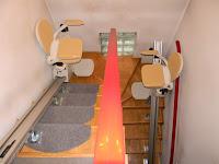 Krzesełka schodowe Acorn w wersji używanej na schodach zabiegowych