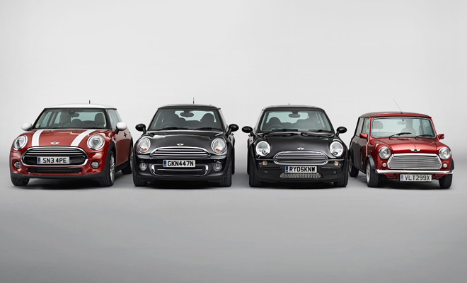 2014 Mini and its three precedessors