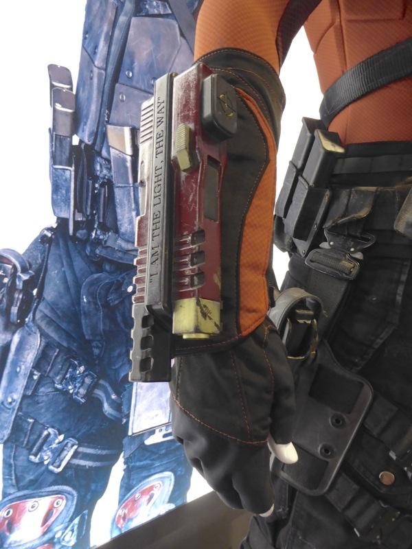 Deadshot costume wrist gauntlets Suicide Squad