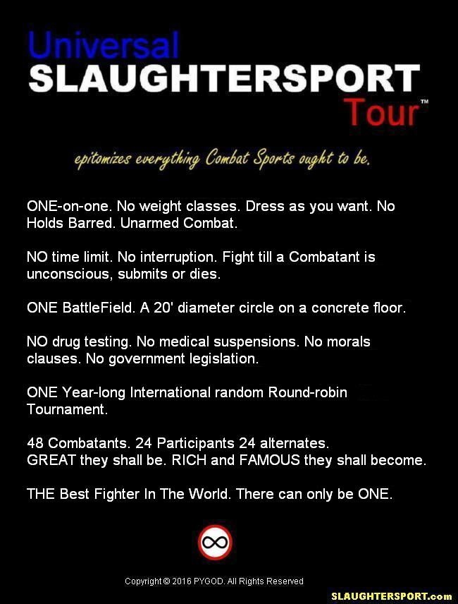 UST™ (Universal SLAUGHTERSPORT Tour™) Constitution of Seven Commandments