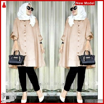 FHGS9011 Model Tunik Meisy Mocca, Wolly Tunik Perempuan Crepe BMG