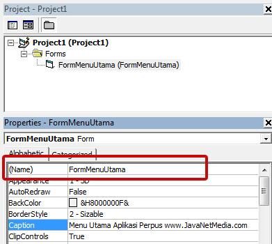 Membuat Project Aplikasi Perpustakaan Dengan VB 6.0
