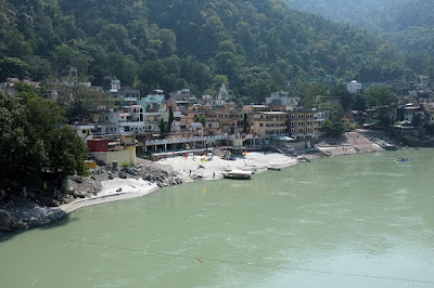 Rishikesh on the bank of river Ganga