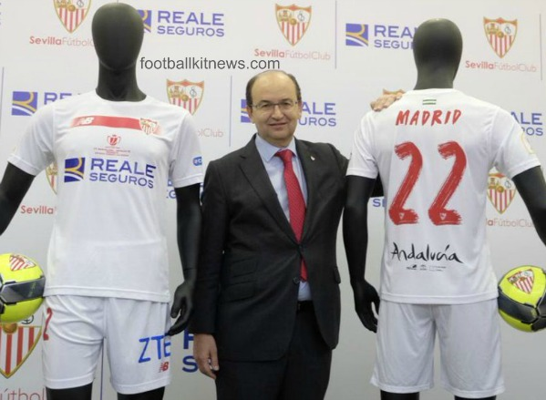 """New Balance y el Sevilla presentan la camiseta """"antiBarça"""""""
