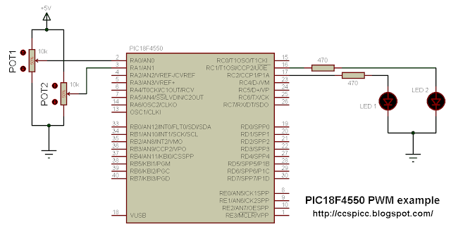 PIC18F4550 PWM control with ADC reading using CCS PIC C