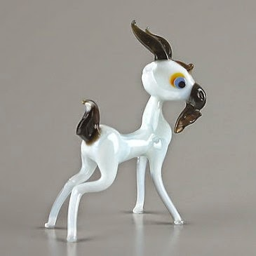 goat glass figurine