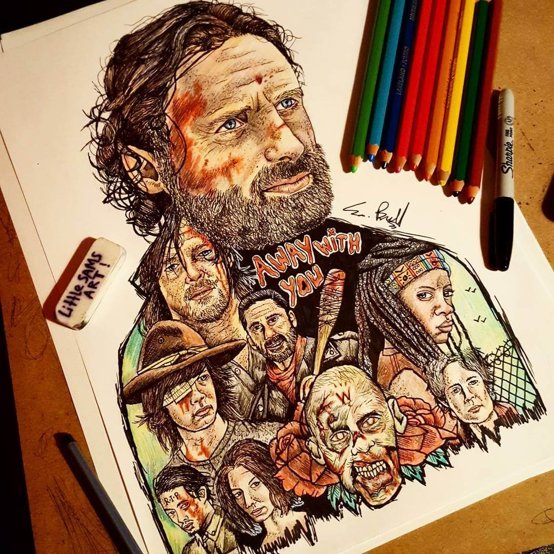 04-The-Walking-Dead-S-Brunell-Movie-Drawings-within-Drawings-www-designstack-co