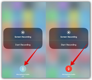 ios 11 screen recording sound