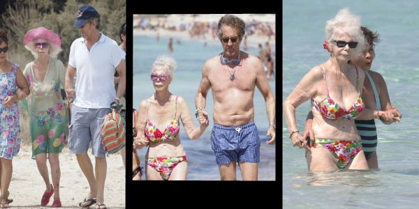 3daf9d1595 And here is the series of photos that I saw of her enjoying the beach with  her husband, 61 year old Alfonso Diez. Do you understand my first  impression?