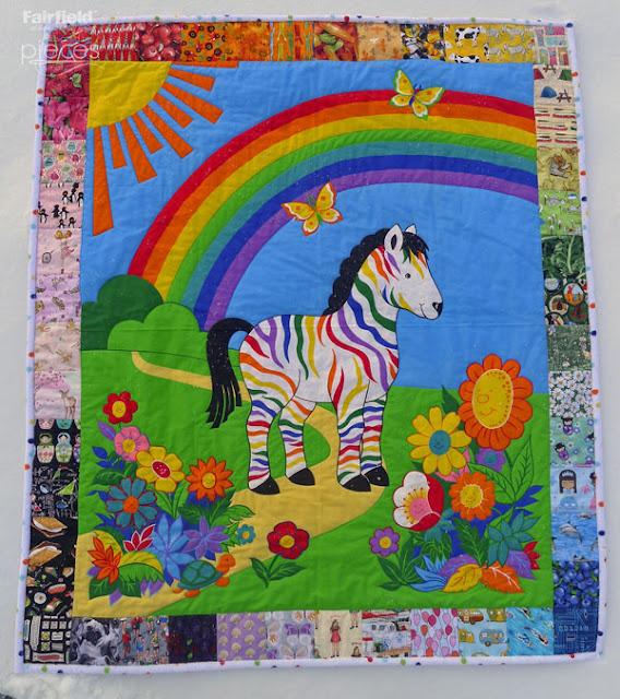 Pieces By Polly Simple I Spy Rainbow Border For Quilt Panels