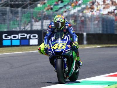 Hari Pertama GP Italia, Rossi Mengeluh Kesakitan