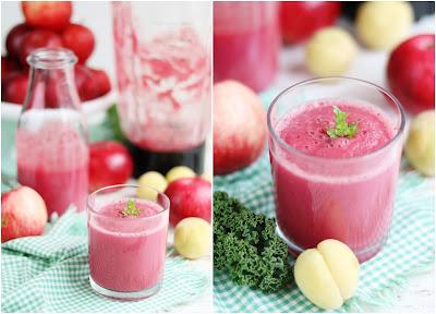różowe smoothie, koktajl z buraka, koktajl z mlekiem migdałowym, jesienne wzmocnienie, daylicooking