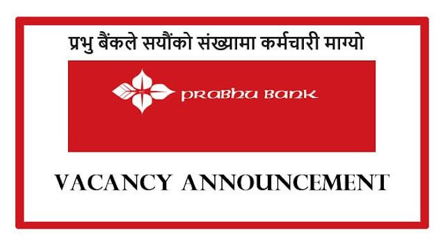 Prabhu Bank Limited Vacancies for Various Positions.