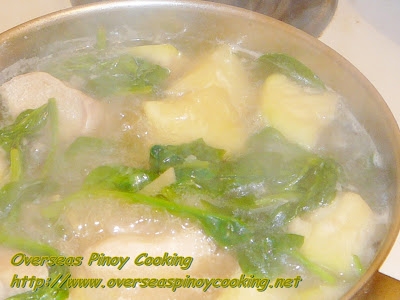Tinolang Manok sa Patola - Cooking Procedure