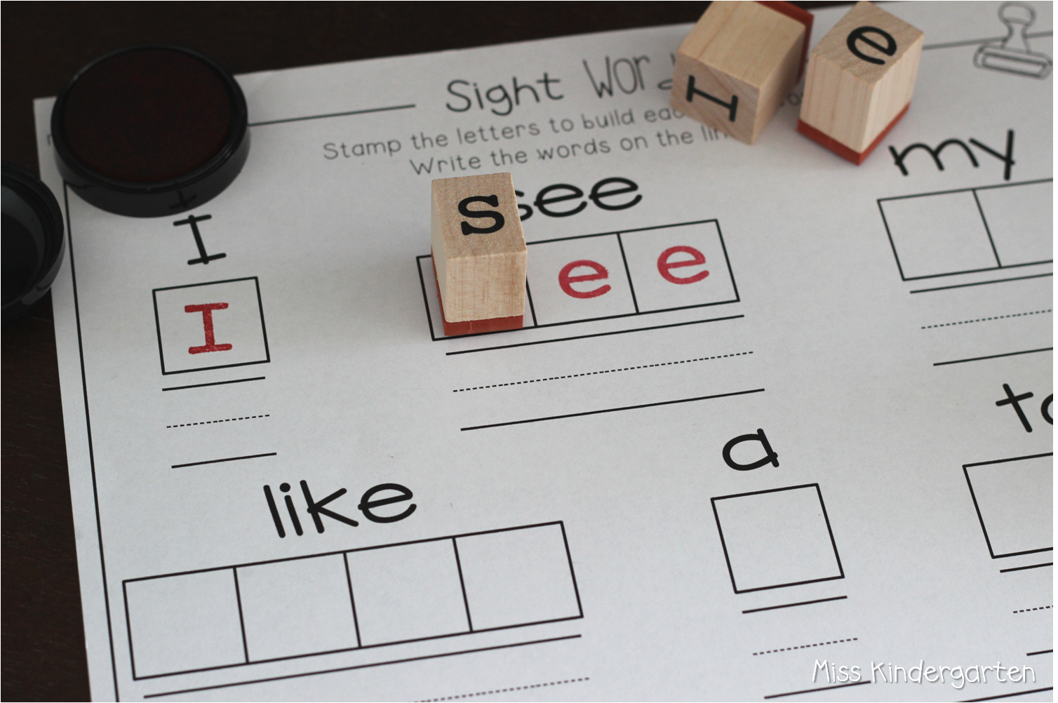 Sight Word Worksheet