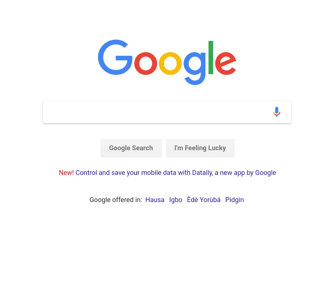 Google's Own Homepage