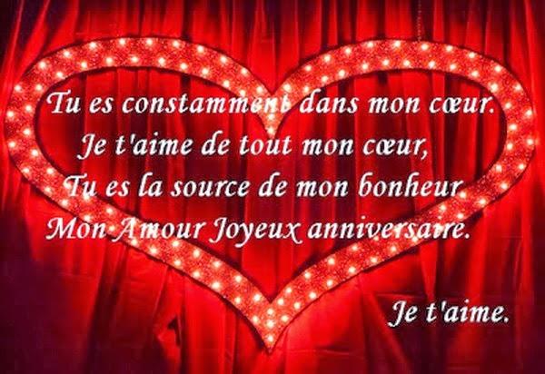 citation bon anniversaire mon amour