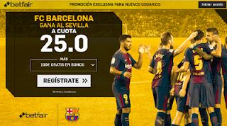 betfair supercuota Barcelona gana a Sevilla copa 21 abril