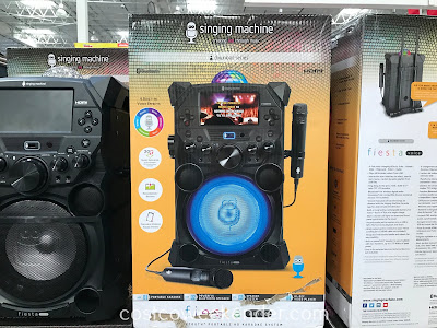 Get the party started with the Singing Machine Fiesta Voice Portable Karaoke System SDL9040