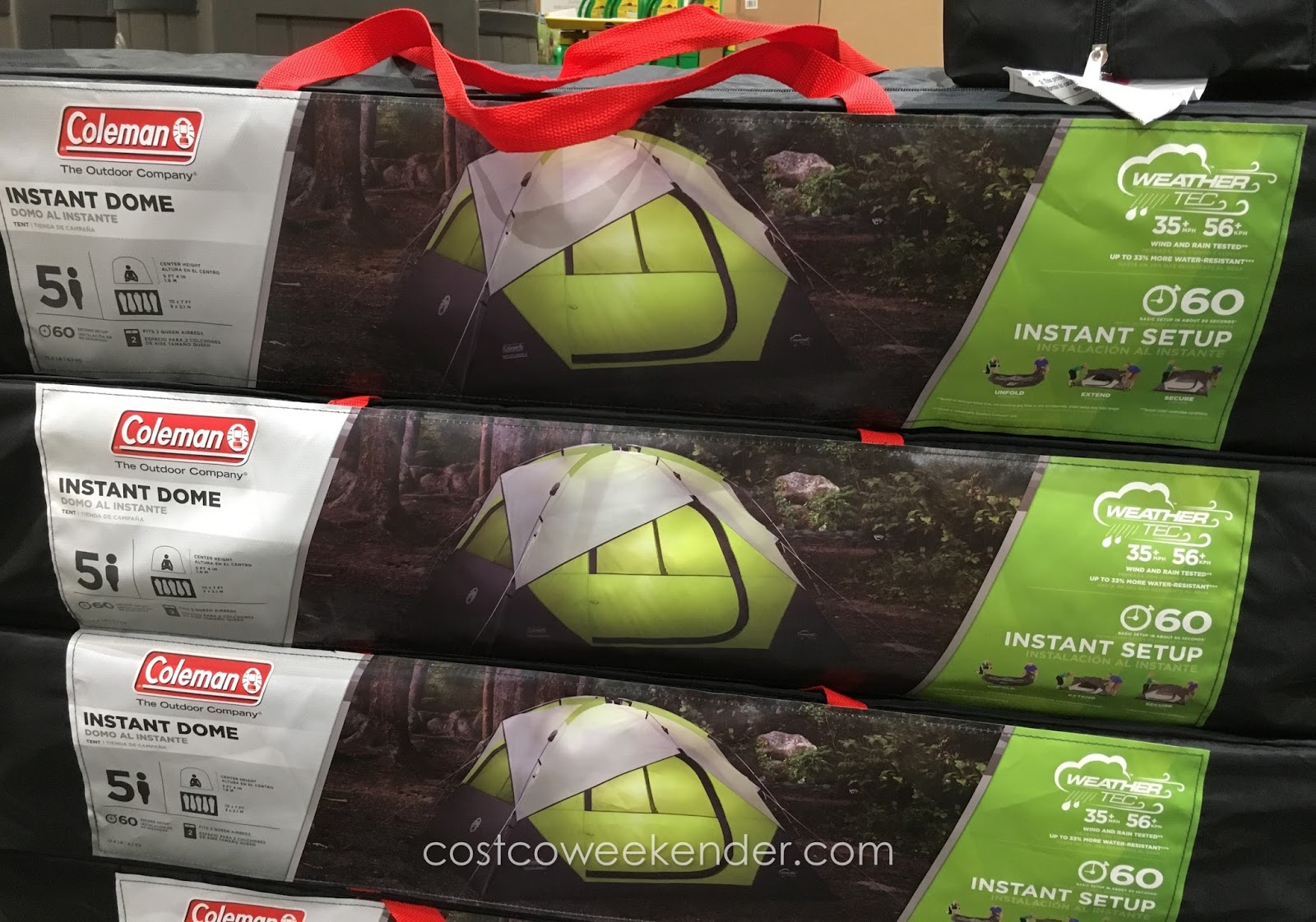 Quickly get your c&ing started with the Coleman 5-Person Instant Dome Tent & Coleman 5-Person Instant Dome Tent | Costco Weekender