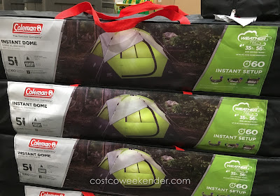 Quickly get your camping started with the Coleman 5-Person Instant Dome Tent