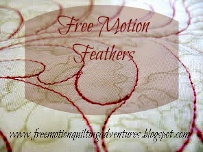 how to free motion quilt feathers