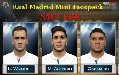 PES 2016 Real Madrid Mini facepack by Mo Ha