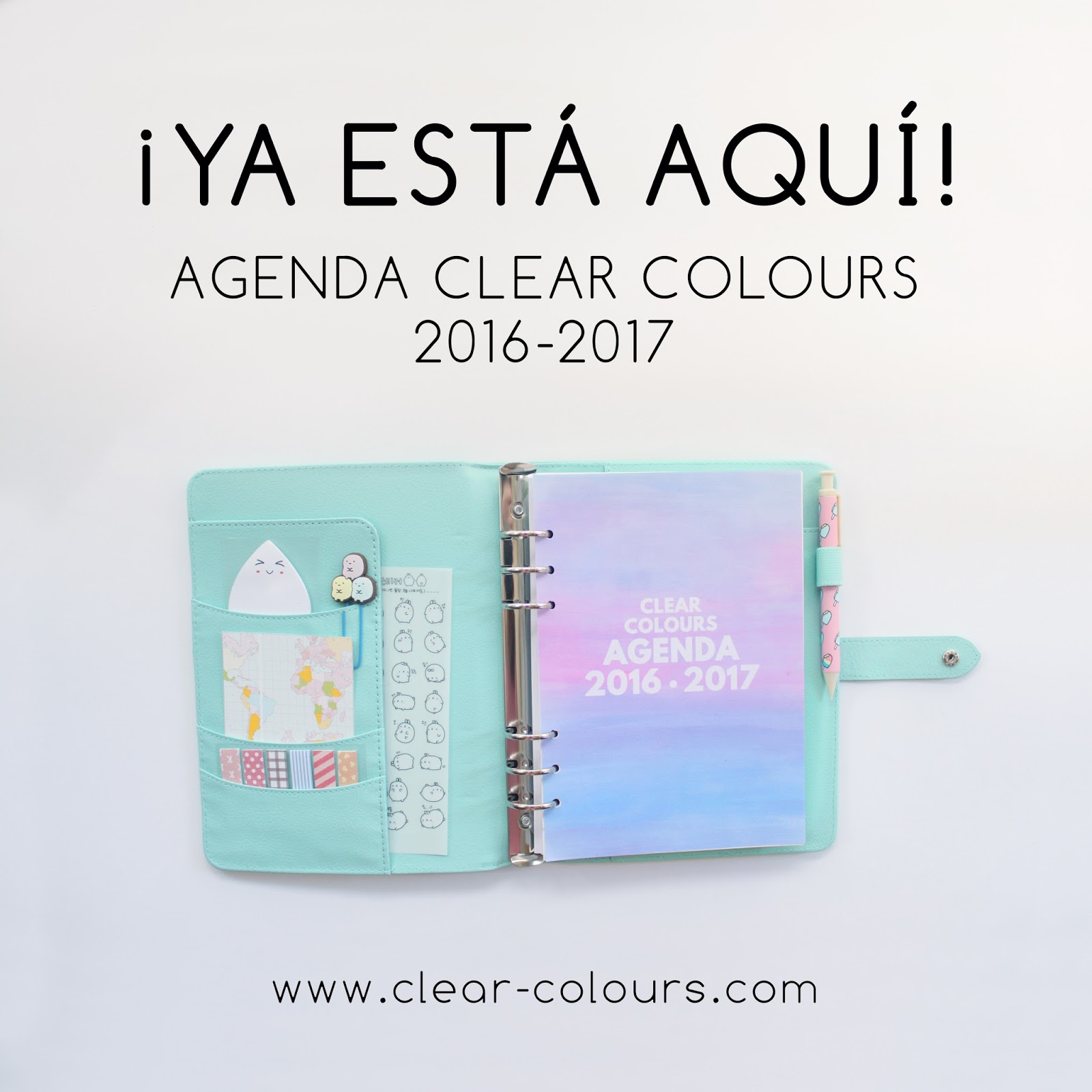 Agenda Clear Colours 2016 17 Y Kit De Papelería