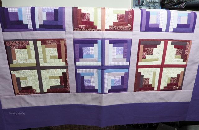 Make a mini log cabin quilt top ~ Threading My Way